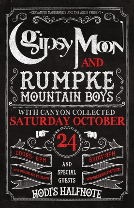 2015-10-24 - Rumpke Mountain Boys, Gipsy Moon, & Canyon Collected at Hodi's