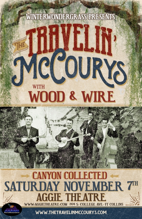 2015-11-07 - Travelin McCourys, Wood & Wire, Canyon Collected at the Aggie