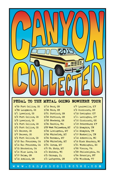 2015 - Canyon Collected Tour Poster