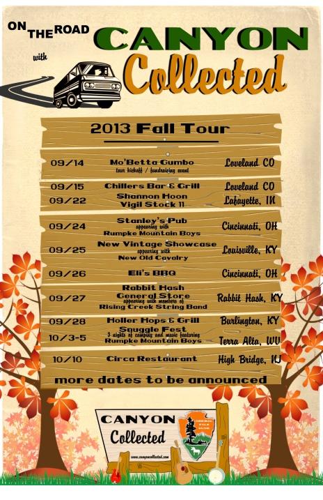 2013 - Tour Dates Poster